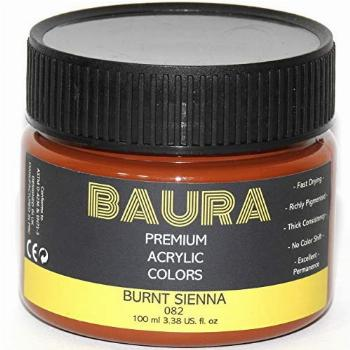 Acrylic Paint Burnt Sienna in Assorted Vivid Colors,100