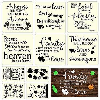 AHYS Stencils for Painting on Wood & Canvas, Inspirational