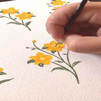 Gouache Painting Wildflowers by Philip Boelter See the full video on YouTube along with many others