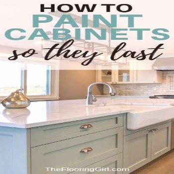 How to paint kitchen cabinets so they they last.