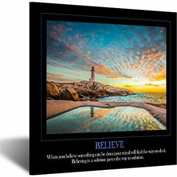 Kreative Arts Believe Canvas Quotes Wall Art Decor Family