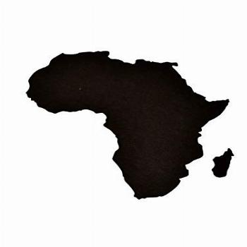 Map of Africa Continent Stencil Pattern for Painting On