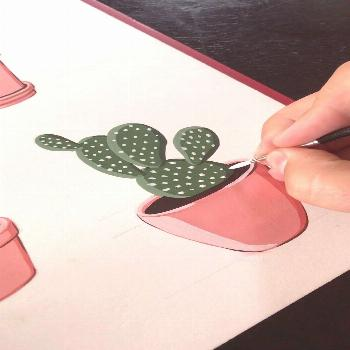 Painting Prickly Pears by Philip Boelter This is a satisfying gouache painting time lapse for inspi
