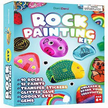 Rock Painting Kit for Kids - Arts and Crafts for Girls &