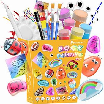 Rock Painting Kit for Kids - Crafts Toy and Arts Set