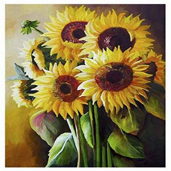 Sunflower Painting by Numbers for Adults DIY Oil Painting