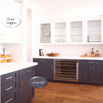 Two-toned painted cabinets in the kitchen are a hot trend that is here to stay! Here are some timel