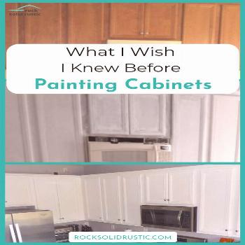 What I Wish I Knew Before Painting Cabinets How to paint builder grade kitchen cabinets the right w