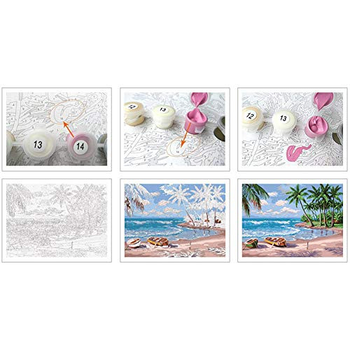 Adult Paint by Number Kits on Canvas for Beginners, Adults,