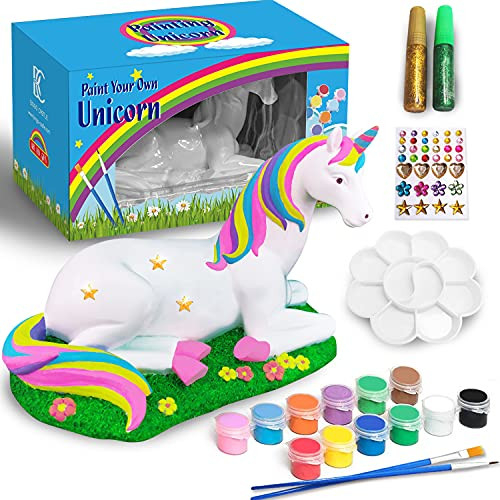 Arts and Crafts for Kids, Paint Your Own Unicorn Rainbow