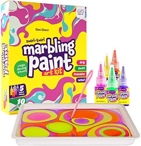DanampDarci Marbling Paint Art Kit for Kids - Arts and Crafts