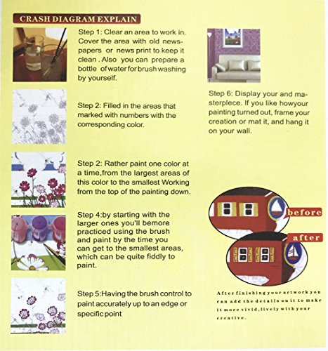 DIY Painting by Numbers for Adults, Paint by Number Kit On