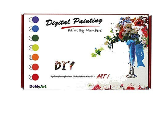 DoMyArt Acrylic Paint by Number Kit On Canvas for Adults