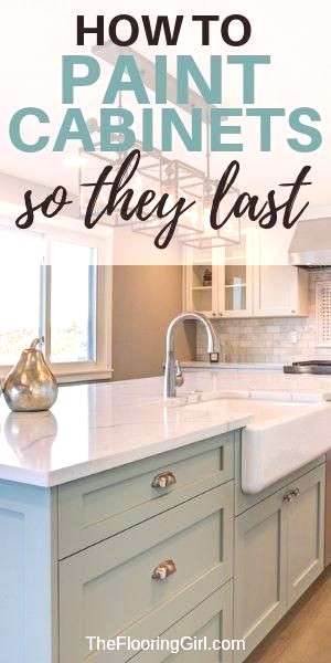 How to paint cabinets the RIGHT way -