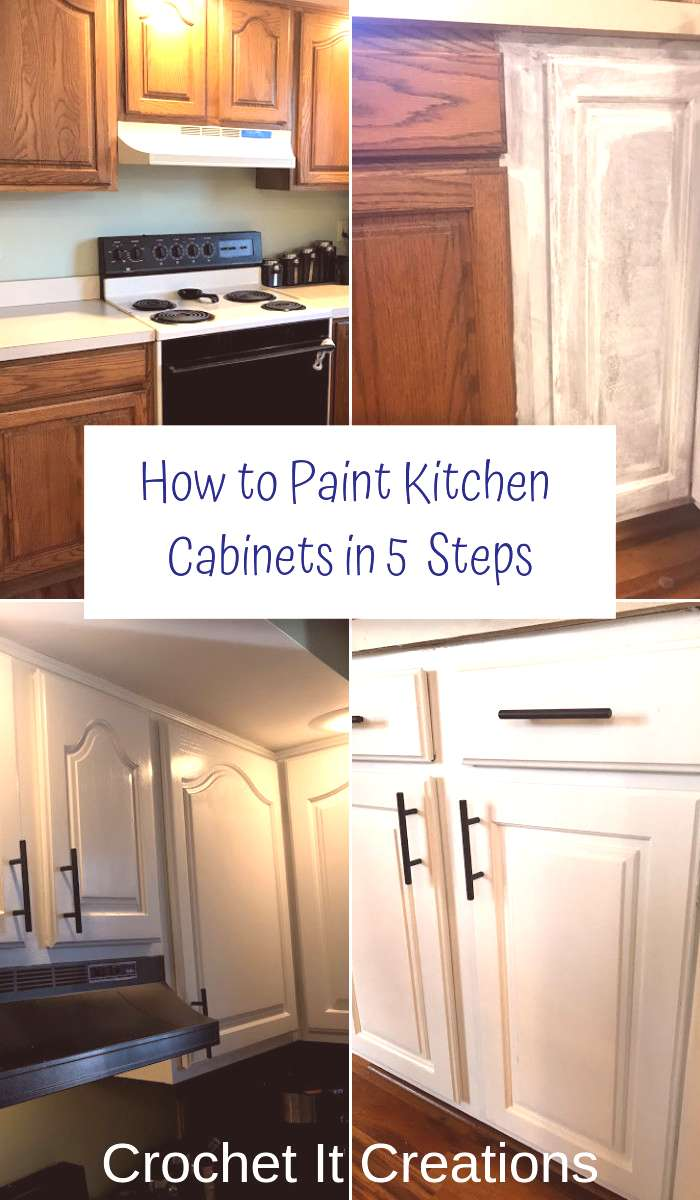 How to Paint Kitchen Cabinets in 5 Steps – Crochet it Creations
