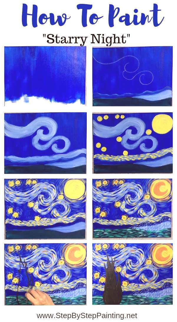 How To Paint Starry Night This is a simplified, easy version of the famous Starry Night by Vincent