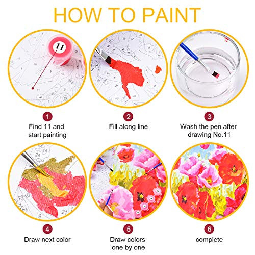KOSE Paint by Numbers for Adults Beginner amp Kids, DIY Oil