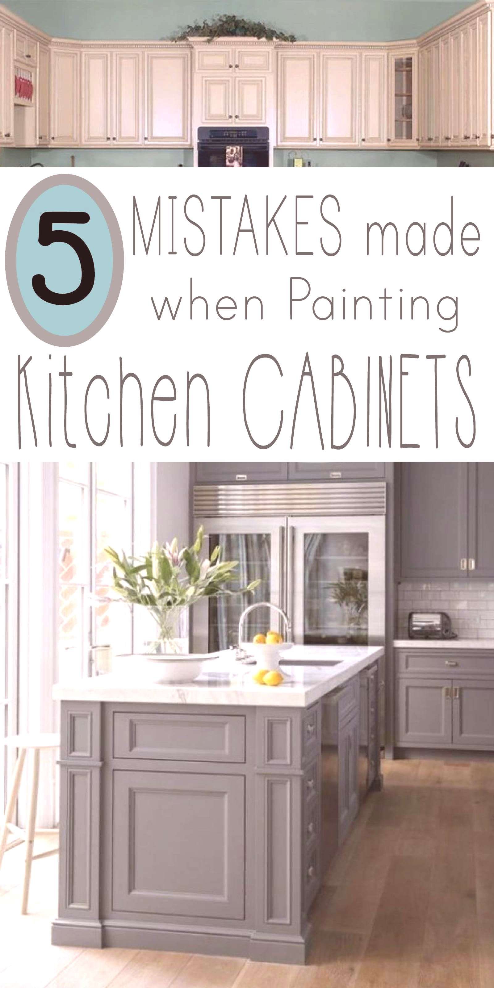 LEARN 5 Mistakes made when painting kitchen cabinets, so your makeover project is professional look