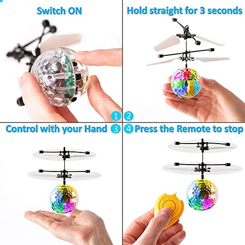 Magic Flying Ball Toy - Infrared Induction RC Drone, Disco