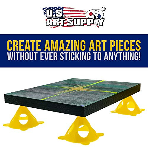 U.S. Art Supply Yellow Cone Canvas and Cabinet Door Risers -